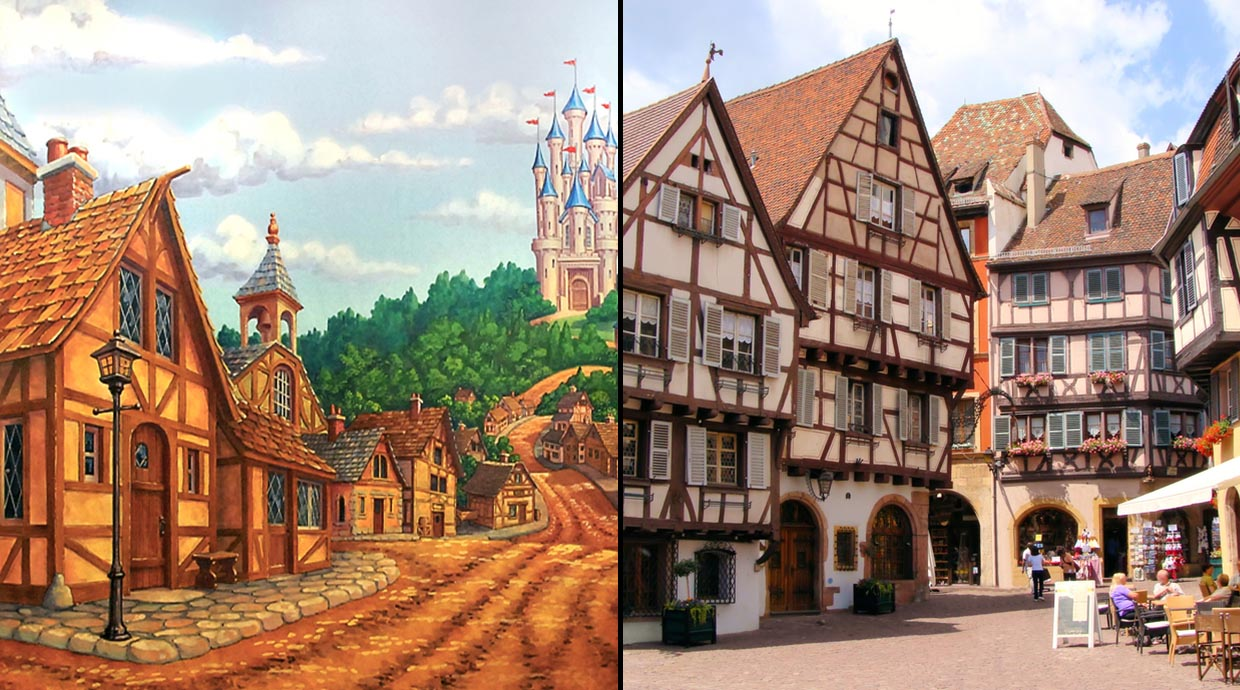 14 real-life places from Disney Studios cartoons